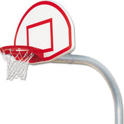 Bison Mega Duty Aluminum Fan Basketball System