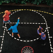 DIY Basketball Court Stencil High School/NCAA Specs