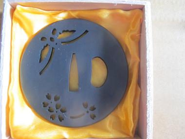 Ronin Katana dojo pro tsuba #2 with iron fuchi and kashira