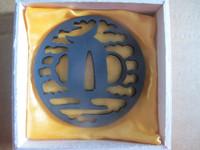 Ronin Katana dojo pro tsuba #19 with iron fuchi and kashira