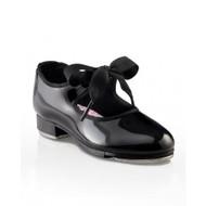 """N625C - Capezio Child """"Jr. Tyette"""" Ribbon Tie Tap Shoes"""