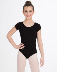 CC400C Child Short Sleeve Cotton Leotard