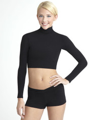 TB107 - Capezio Adult Turtleneck Long Sleeve Top