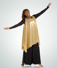 552 - Adult Metallic Tank Pullover Tunic