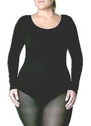 TB135X - Capezio Adult Plus Size Long Sleeve Leotard