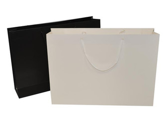 Matt Luxury Paper Carrier Bags - Large - 52 x 42 x 10cm  -  Pack of 25