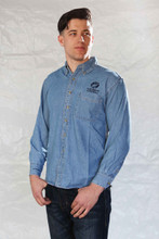 LONG SLEEVE STONEWASHED DENIM SHIRT