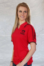 WOMEN'S SPORTY FLAMES POLO