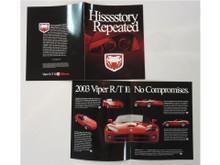 2003 Viper Brochure Hisssstory