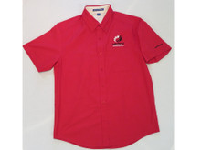 CLUB CLASSIC SHORT SLEEVE RED WOVEN SHIRT
