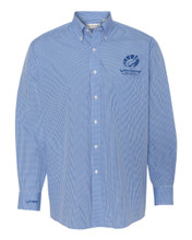 BLUE GINGHAM VAN HEUSEN LONG SLEEVE SHIRT