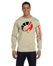 HANES BEEFY BEIGH LONG SLEEVE T SHIRT