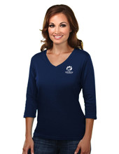 NAVY WOMEN'S 3/4 LENGTH SLEEVE TOP