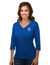 GTS BLUE WOMEN'S 3/4 LENGTH SLEEVE TOP