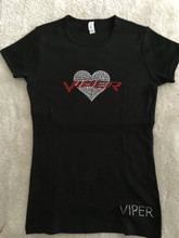 VIPER HEART CREW NECK SHORT SLEEVE UNISEX TEE SHIRT