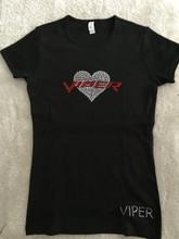 VIPER HEART CREW NECK SHORT SLEEVE UNISEX TEE SHIRT