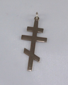 Simple 3-bar neck cross pendant
