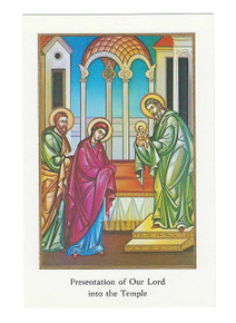 "Holy Card- ""Presentation of Our Lord into the Temple"" Holy Card pack"