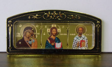 Icon- Kazan, Christ & St. Nicholas for car or room (1)