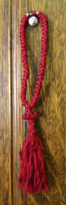 Prayer Rope- 50 Knot flush (red)