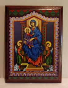 Icon- Madonna Enthroned