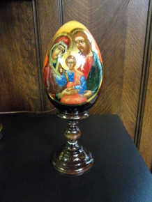 Egg- Holy Family Icon Egg with stand