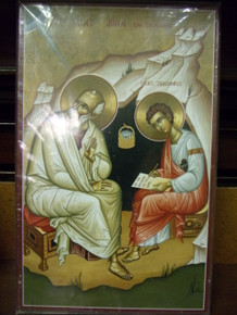 Icon- St. John the Theologian & St. Prochorus