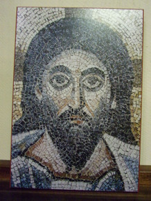 Icon- Mosaic Face of Christ (Detail)
