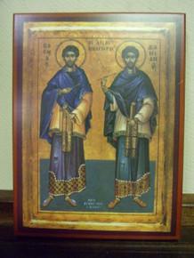 Icon- Saints Cosmas & Damian (2) - medium