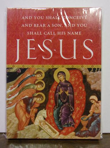 Greeting card set of you shall call his name jesus christmas image 1 m4hsunfo