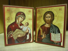 Icon- Theotokos & Christ Diptych