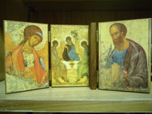 Icon- Holy Trinity, Angel, & St. Paul Triptych