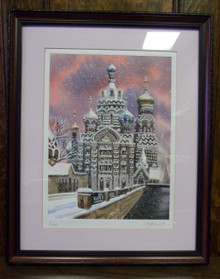 Wall Art- Russian Church in Winter (4)