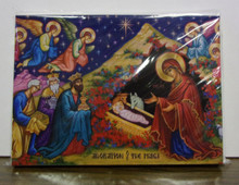 "Greeting Card- ""Adoration of the Magi"" Christmas Card (pack)"