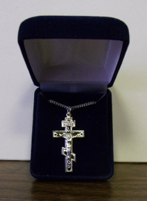 Jewelry- Sterling Silver 3-Bar Cross with Corpus Necklace