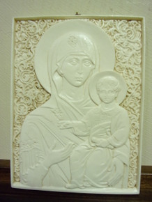 Icon- Ivory Theotokos Icon