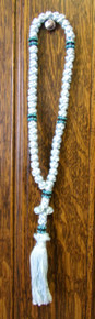 Prayer Rope- 50 Knot Pale Blue Prayer Rope with Blue & Black Beads