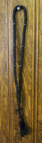 Prayer Rope- 100 Knot Black Prayer Rope with Black Beads