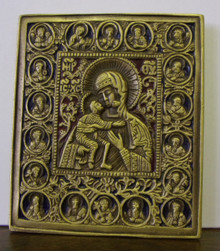 Icon- Bronze Madonna of Fedorovskaya Icon