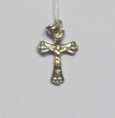 Jewelry Silver Cross With Gold Crucifix Pendant Byzantine