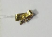 Jewelry- Gold Ribbon Pin