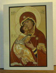 "Greeting Card- ""Our Lady Of Vladimir"" Note Card"