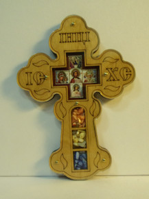 Cross- Wooden Cross with Icons and Incense (1)