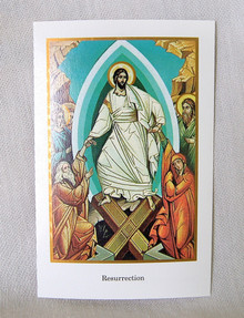Resurrection Holy Card with Prayer pack