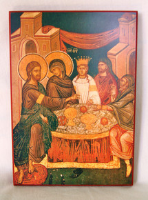 Wedding At Cana Icon - Small, Yellow