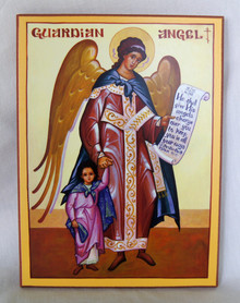 Icon- Guardian Angel with Girl - large