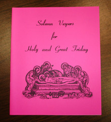 Solemn Vespers for Holy and Great Friday - Pack of 25