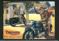 Triumph Gas Station Magnet