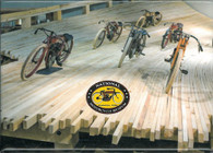 Board Track Racing Magnet