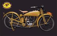 1928 Harley-Davidson B Single Motorcycle Postcard